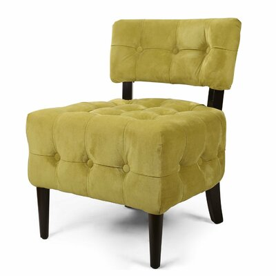 Single Living Room Side Chair Upholstery: Green