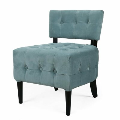 Single Living Room Side Chair Color: Blue