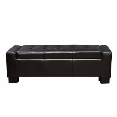 Large Accents Rectangular Tufted Storage Ottoman Upholstery: Black