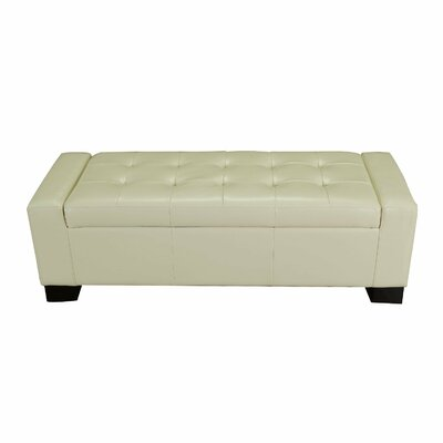 Large Accents Rectangular Tufted Storage Ottoman Upholstery: Cream