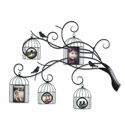 Collage Wall Hanging 5 Opening Family Tree Scroll Picture Frame