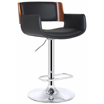 Bentwood Adjustable Height Swivel Bar Stool