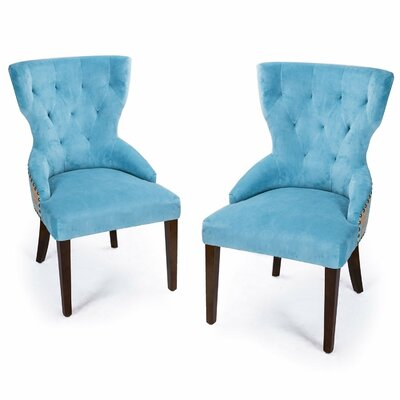 Fabric Living Room Side Chair Upholstery: Blue