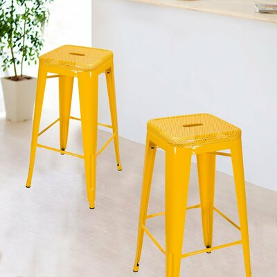 30 Bar Stool Upholstery: Yellow