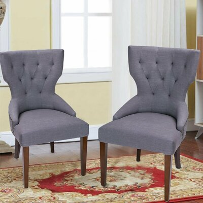 Fabric Living Room Side Chair Upholstery: Gray