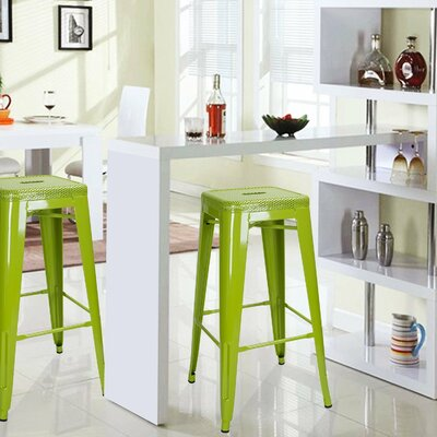 30 Bar Stool Upholstery: Green