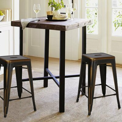 24 inch Bar Stool Finish: Brown