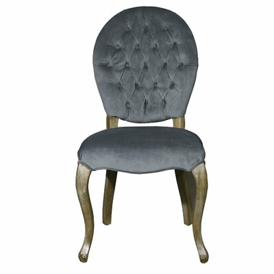 Side Chair Upholstery: Dark Gray