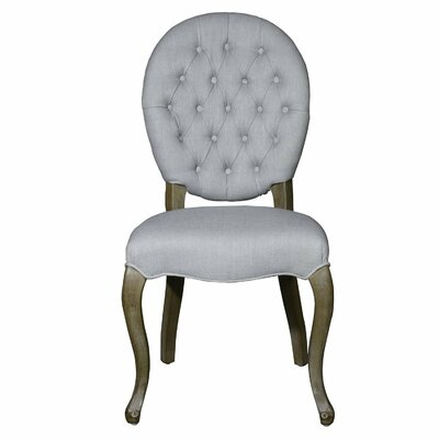 Side Chair Upholstery: Light Gray