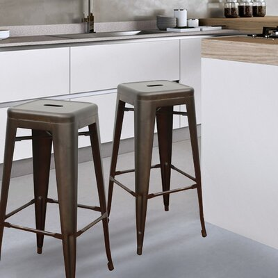 Malden 30 Bar Stool Finish: Bronze