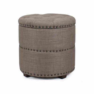 Round Storage Ottoman Upholstery: Dark Brown
