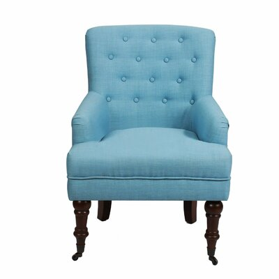Leisure Armchair Upholstery: Blue