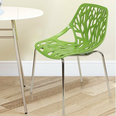 Stacking Dining Side Chair Finish: Green