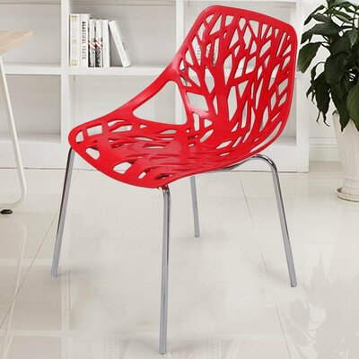 Stacking Dining Side Chair Finish: Red
