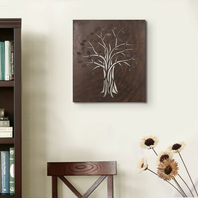 Decorative Rusted Laser Cut Tree Iron Widget Wall Decor