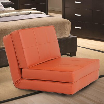 Convertible Chair Upholstery: Orange Red