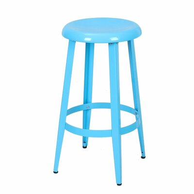 Quon 26 Bar Stool Finish: Blue