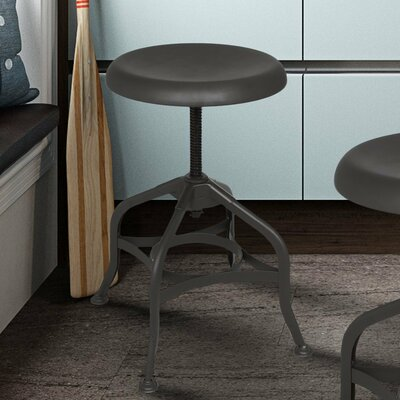 Adjustable Height Swivel Bar Stool Finish: Bronze Matte