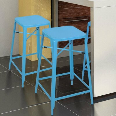 26 inch Bar Stool Finish: Blue