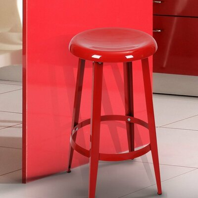 Quon 26 Bar Stool Finish: Red