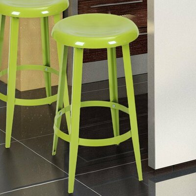 Quon 26 Bar Stool Finish: Green