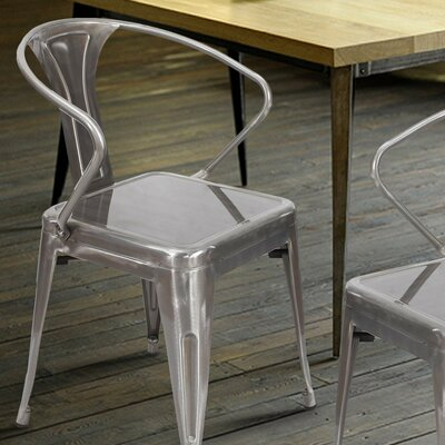 Side Chair Finish: Gunmetal