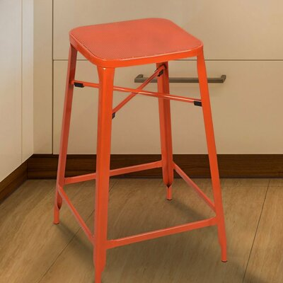26 Bar Stool Finish: Orange