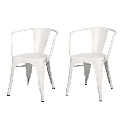 Halley Metal Dining Chair Color: White
