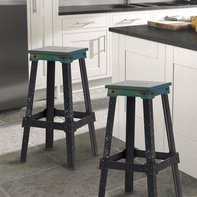 30 Bar Stool Upholstery: Green