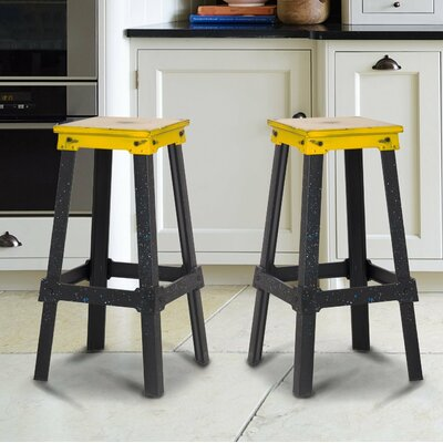 30 inch Bar Stool Upholstery: Yellow