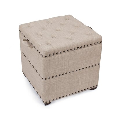 Audane Square Cube Ottoman Upholstery: Rusty Brown