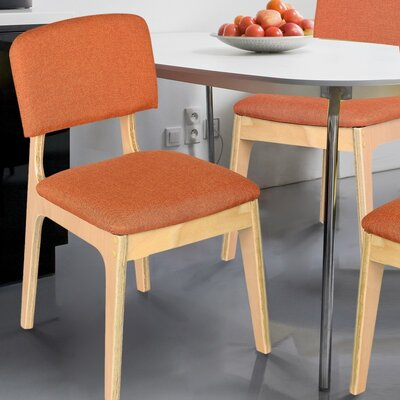Bentwood Side Chair Upholstery: Orange