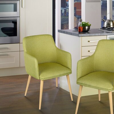 Arm Chair Upholstery: Green