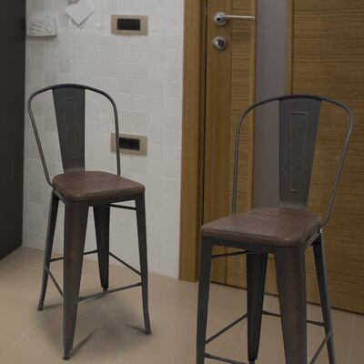 30 Bar Stool Upholstery: Gunmetal