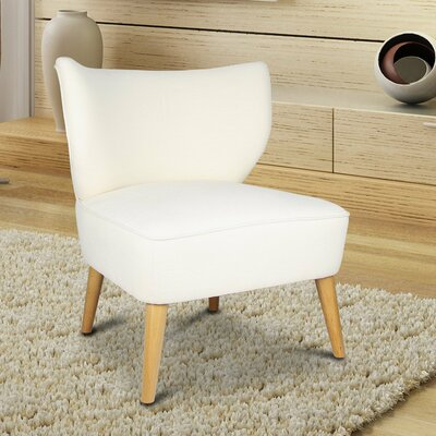 Leisure Slipper Chair Upholstery: Cream