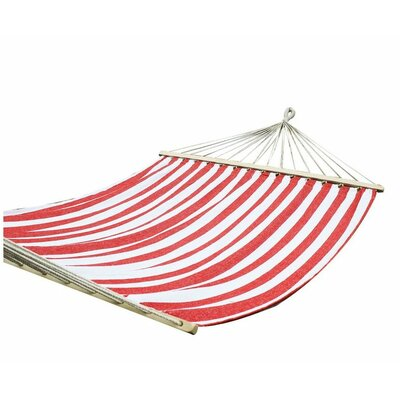 Cotton Tree Hammock Color: Red and White
