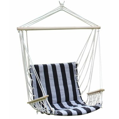 Cotton Chair Hammock Color: Black and White