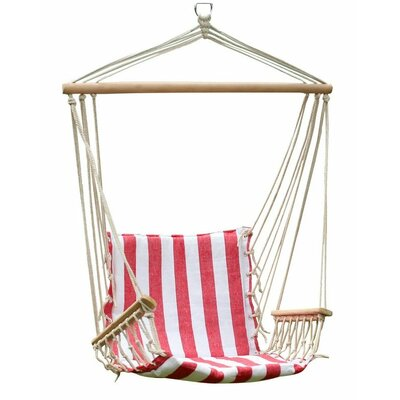 Cotton Chair Hammock Color: Red and White