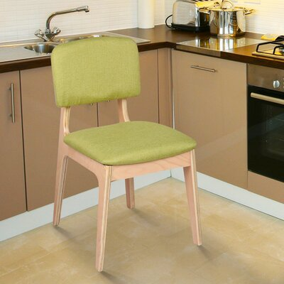 Bentwood Side Chair Upholstery: Green