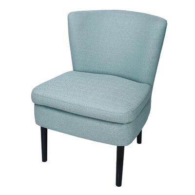 Slipper Chair Upholstery: Light Blue