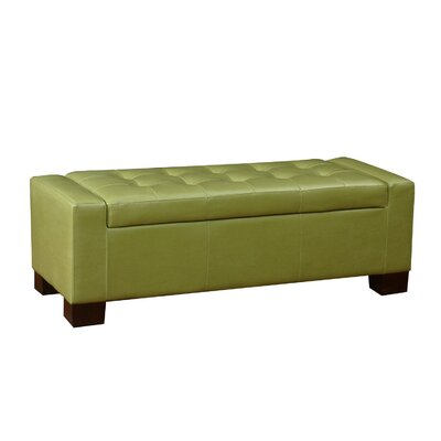 Large Accents Rectangular Tufted Storage Ottoman Upholstery: Green