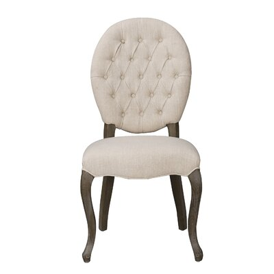 Side Chair Upholstery: Cream