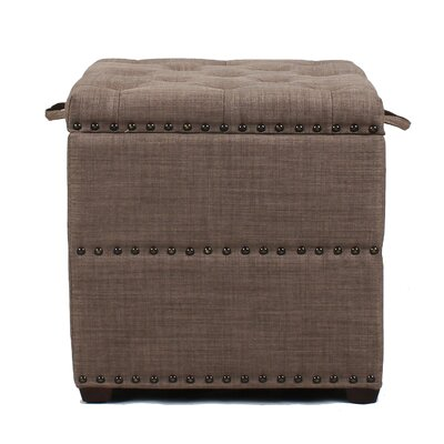Square Cube Ottoman Upholstery: Dark Brown