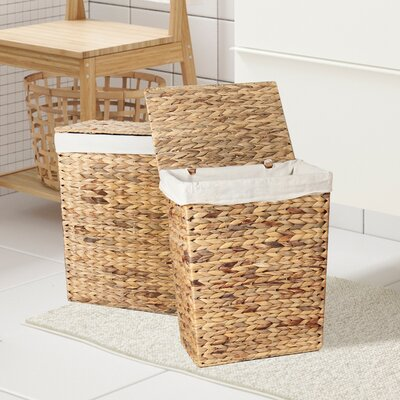 2 Piece Wicker Laundry Set