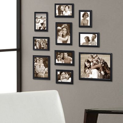 10 Piece Decorative Curved Bevel Picture Frame Set