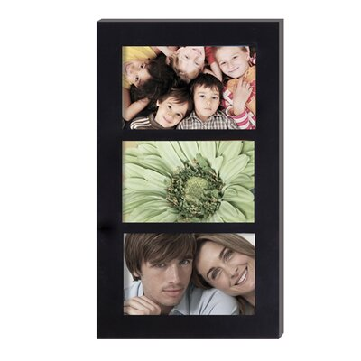 3 Opening Hanging Collage Picture Frame Color: Black