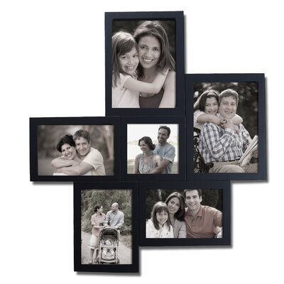 6 Opening Decorative Wall Hanging Collage Picture Frame