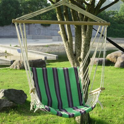 Tree Hanging Suspended Indoor/Outdoor Cotton Chair Hammock Color: Cozumel