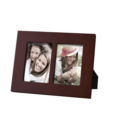 AdecoTrading 2 Opening Decorative Picture Frame Color: Walnut
