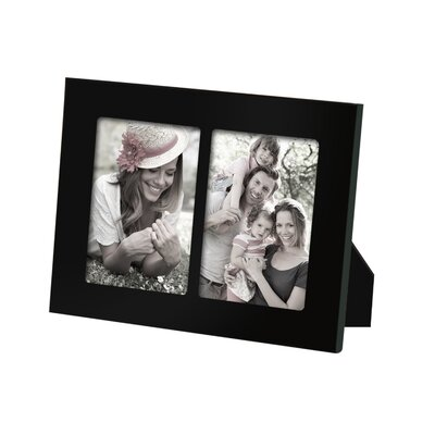 2 Opening Decorative Picture Frame Color: Black